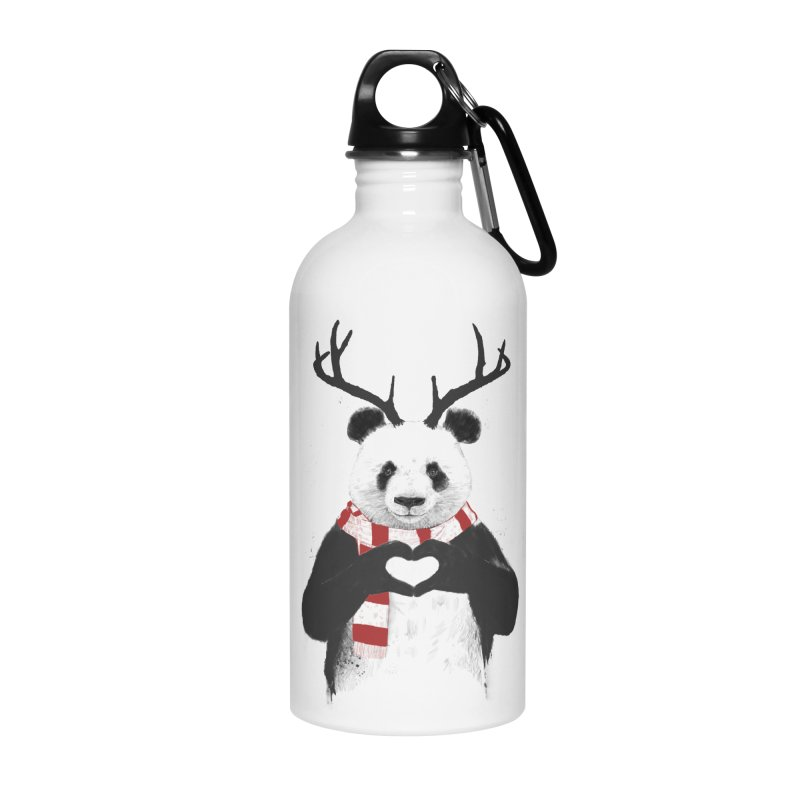 Xmas panda Accessories Water Bottle by Balazs Solti