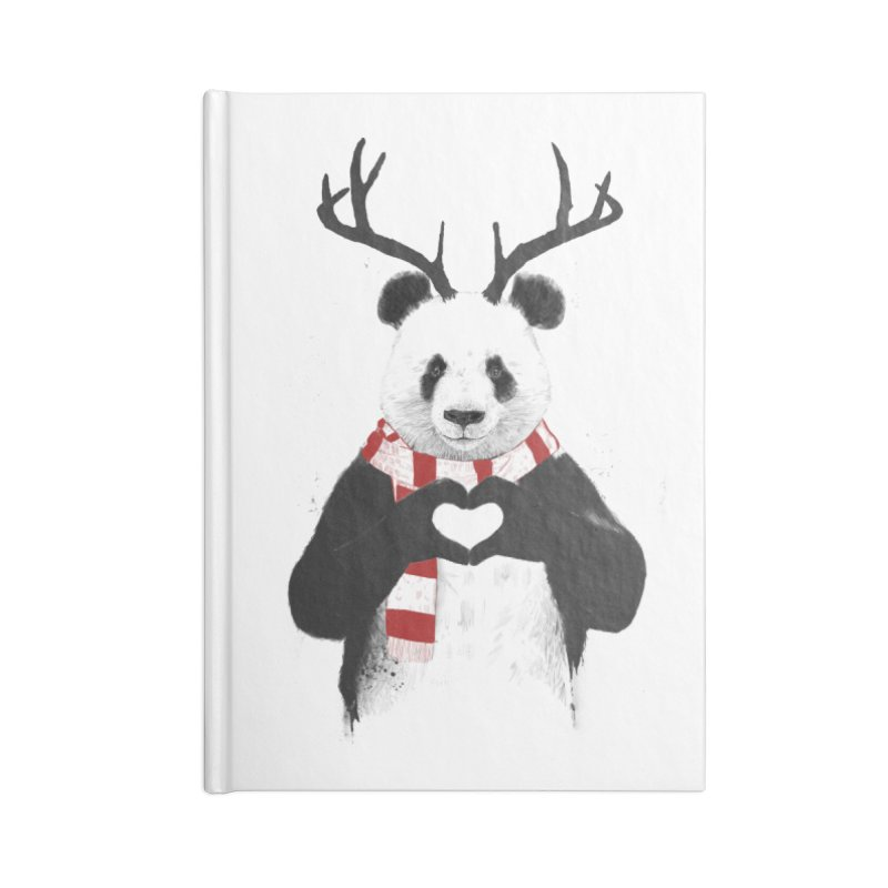 Xmas panda Accessories Blank Journal Notebook by Balazs Solti