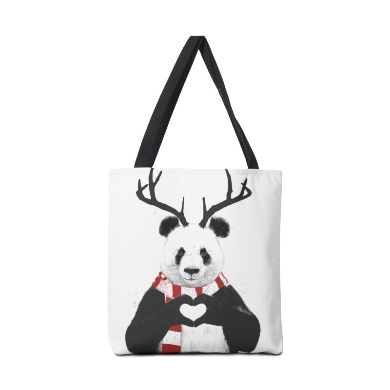 Xmas panda Accessories Tote Bag Bag by Balazs Solti