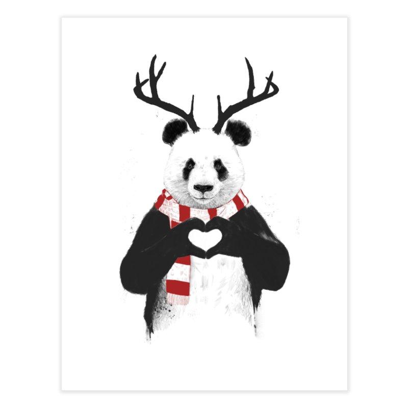 Xmas panda Home Fine Art Print by Balazs Solti