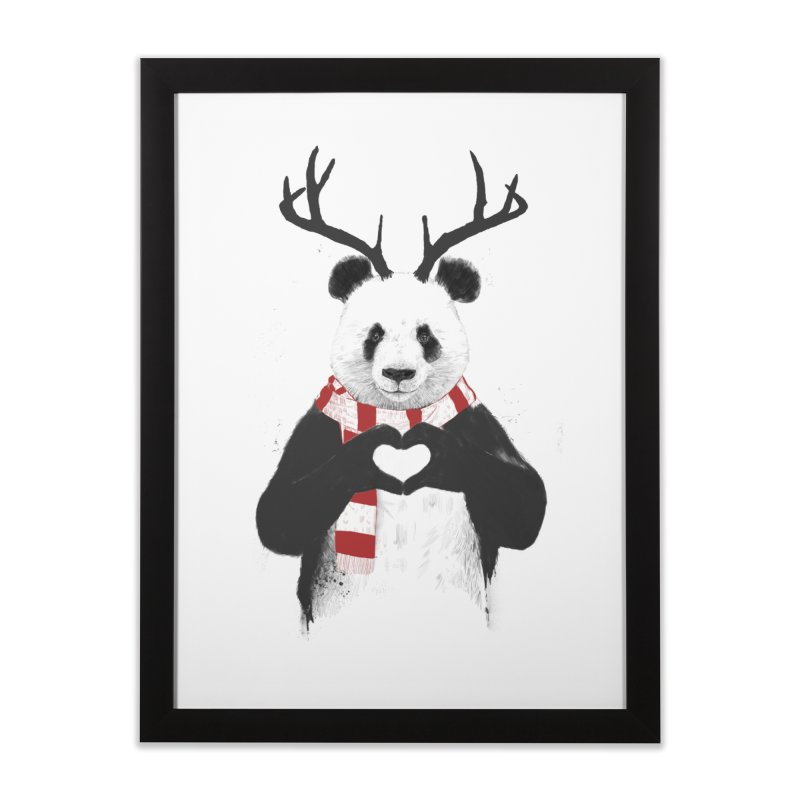 Xmas panda Home Framed Fine Art Print by Balazs Solti