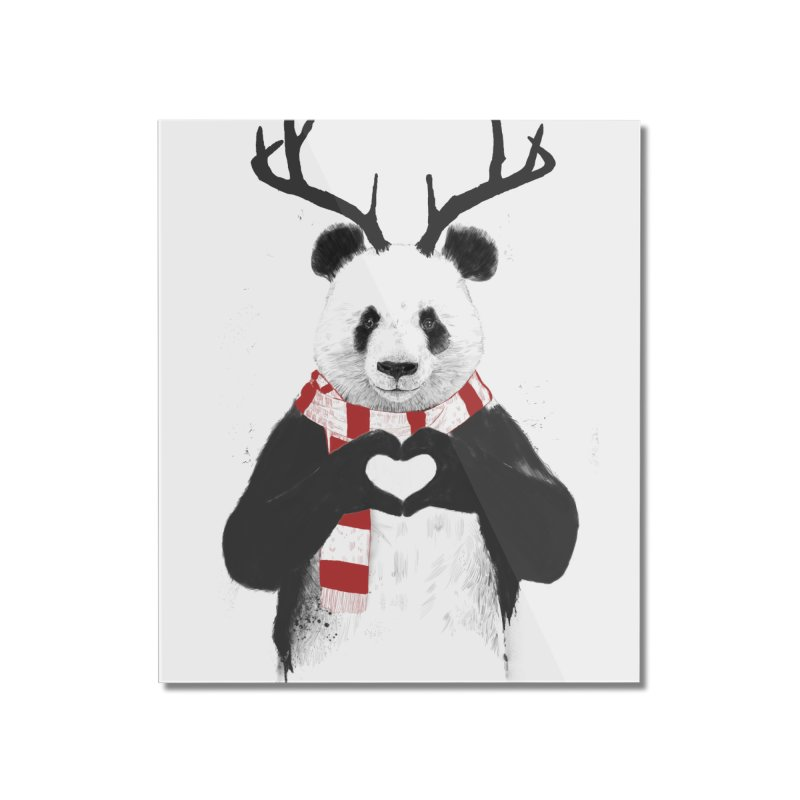 Xmas panda Home Mounted Acrylic Print by Balazs Solti