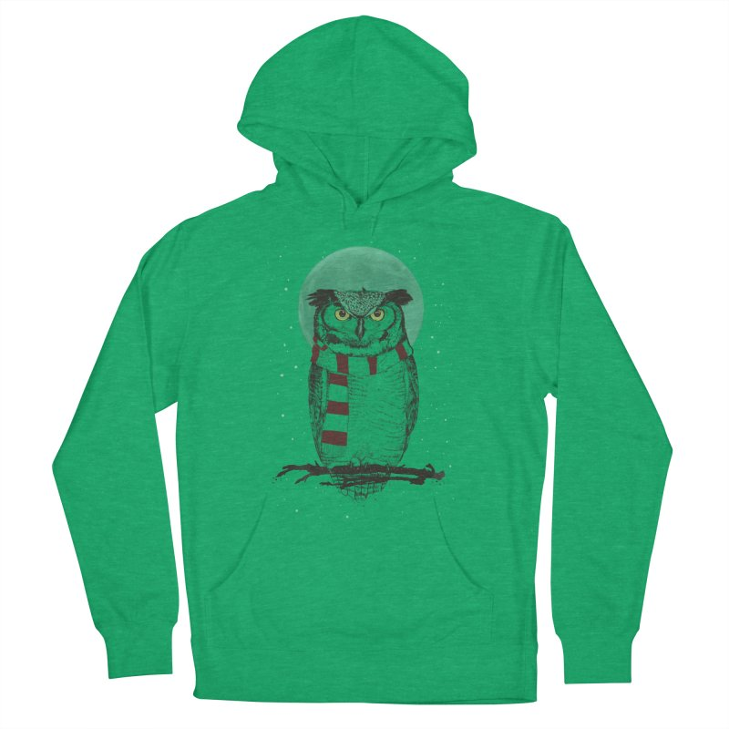 Winter owl Women's French Terry Pullover Hoody by Balazs Solti