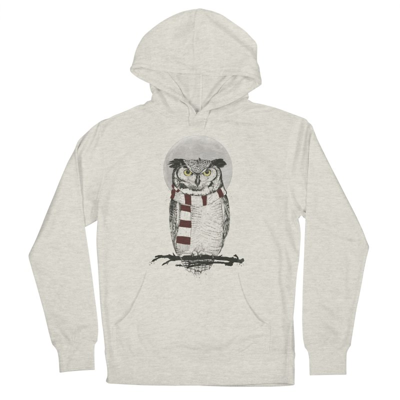Winter owl Women's Pullover Hoody by Balazs Solti