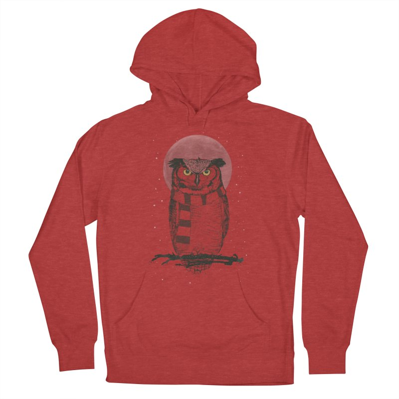 Winter owl Men's French Terry Pullover Hoody by Balazs Solti