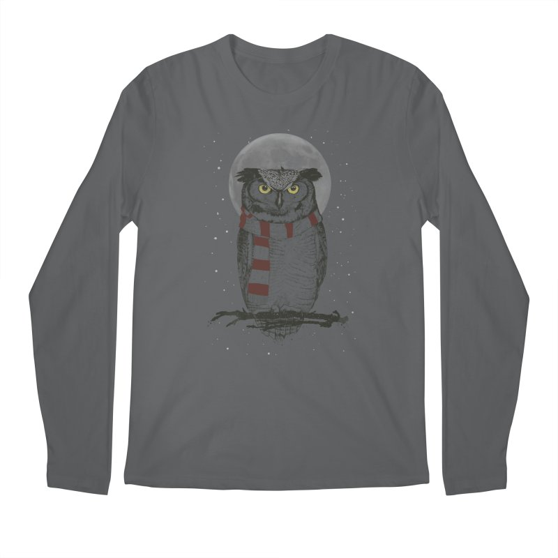 Winter owl Men's Longsleeve T-Shirt by Balazs Solti