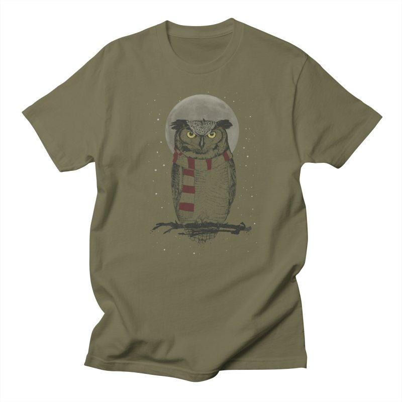 Winter owl Men's T-Shirt by Balazs Solti