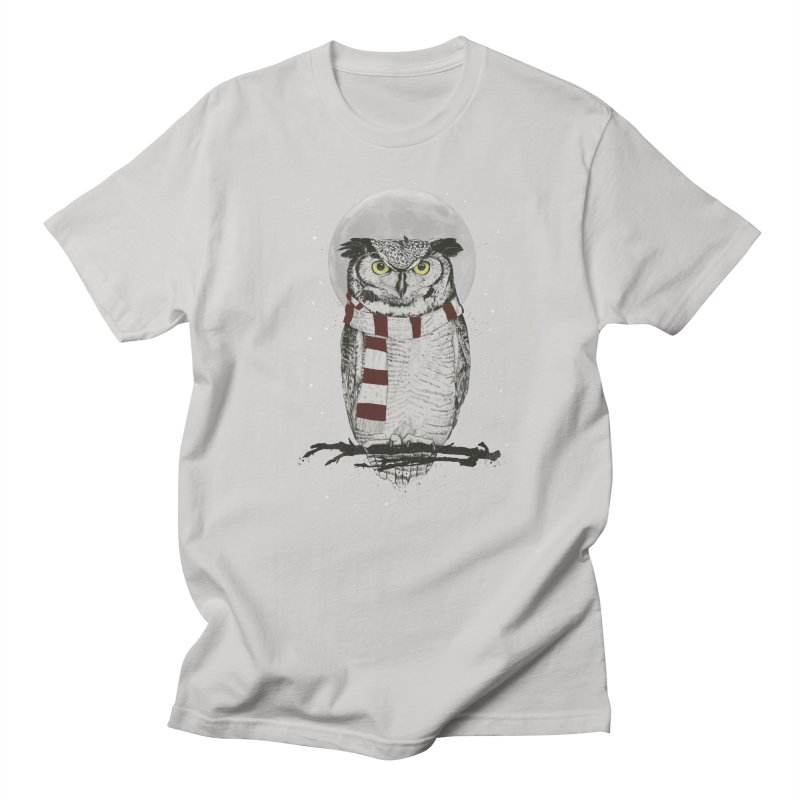 Winter owl Men's T-Shirt by Balazs Solti