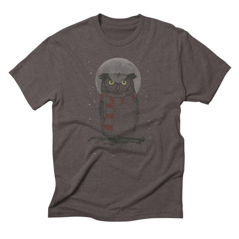 Winter owl Men's Triblend T-Shirt by Balazs Solti