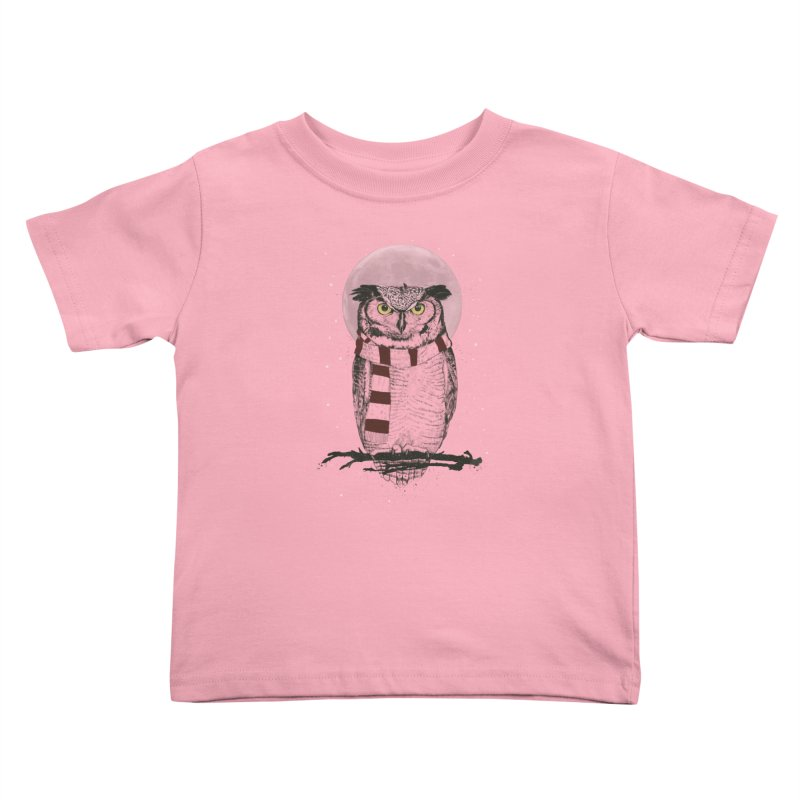Winter owl Kids Toddler T-Shirt by Balazs Solti