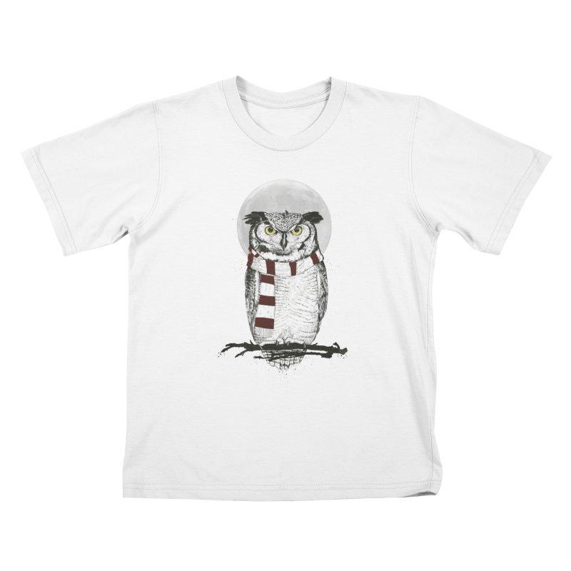 Winter owl Kids  by Balazs Solti