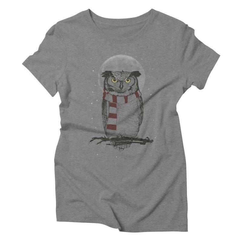 Winter owl Women's Triblend T-Shirt by Balazs Solti