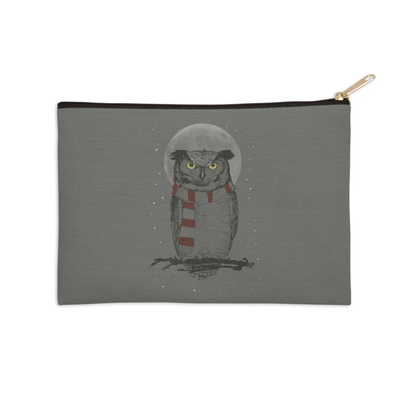 Winter owl Accessories Zip Pouch by Balazs Solti