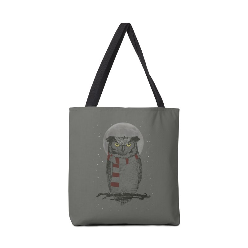 Winter owl Accessories Tote Bag Bag by Balazs Solti