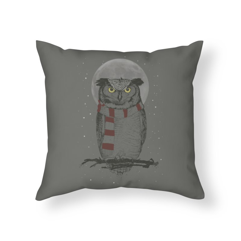 Winter owl Home Throw Pillow by Balazs Solti