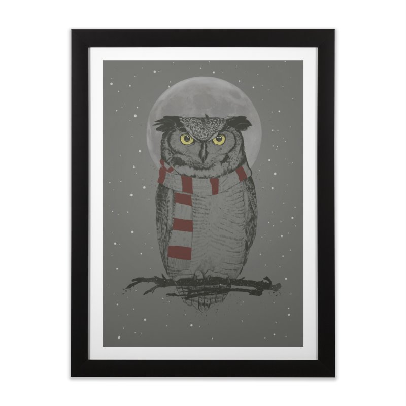 Winter owl Home Framed Fine Art Print by Balazs Solti