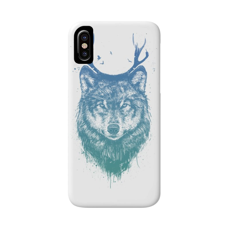 Deer wolf Accessories Phone Case by Balazs Solti