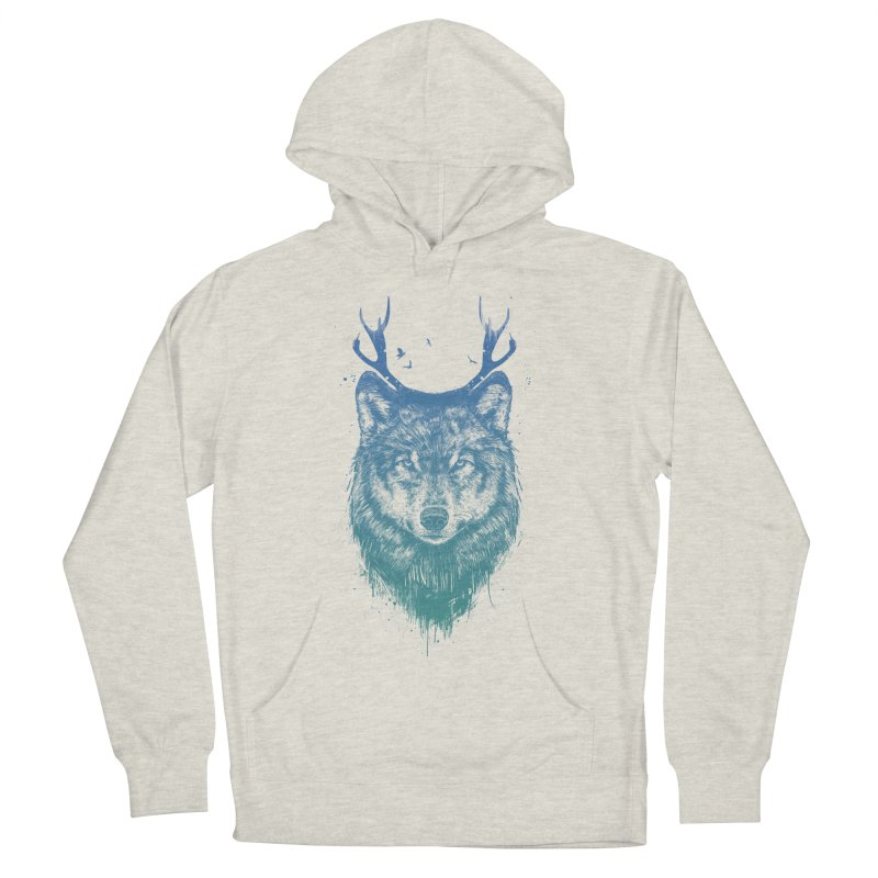 Deer wolf Men's Pullover Hoody by Balazs Solti