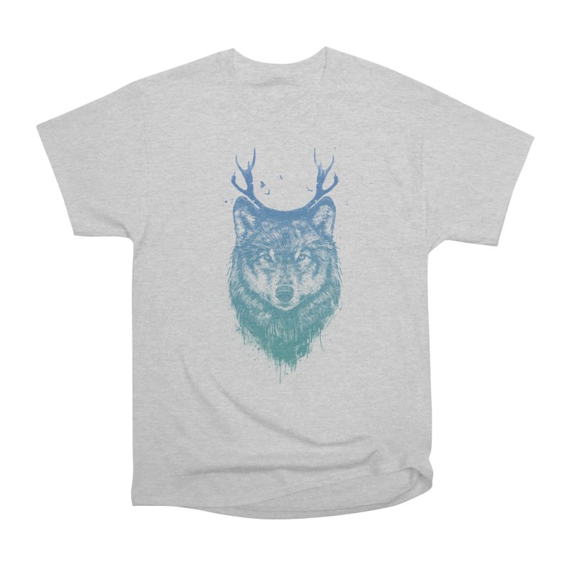 Deer wolf Men's Classic T-Shirt by Balazs Solti