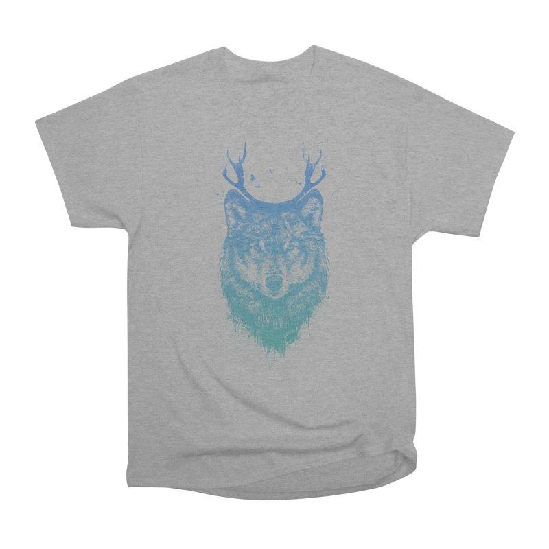 Deer wolf Women's Classic Unisex T-Shirt by Balazs Solti