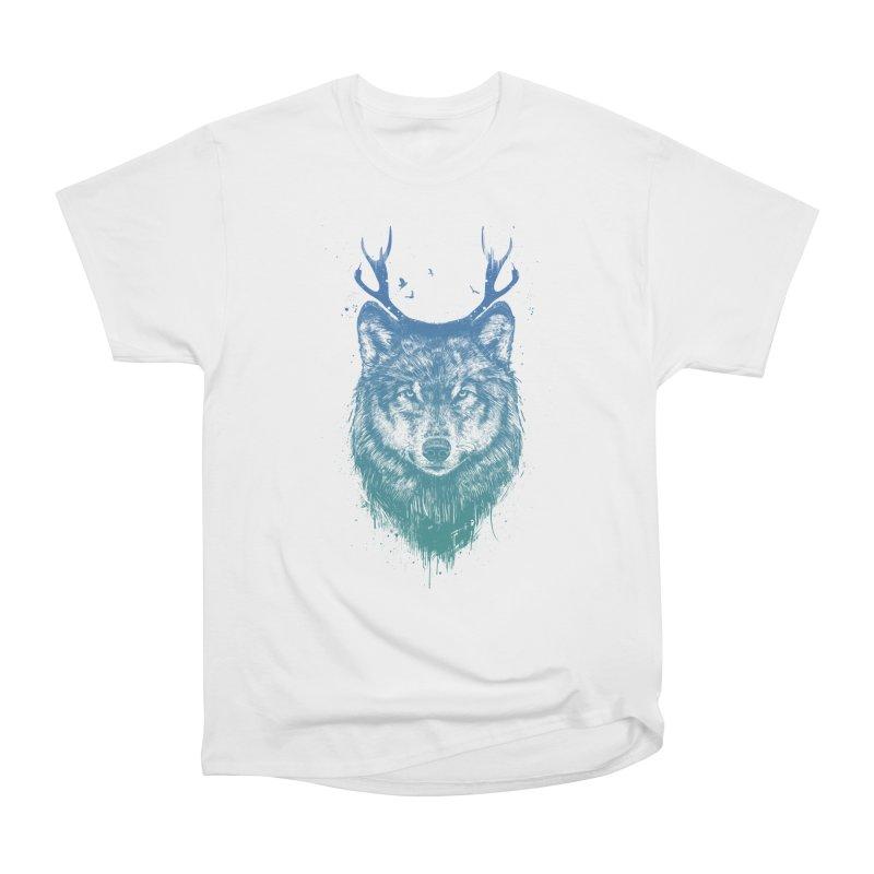 Deer wolf Women's Heavyweight Unisex T-Shirt by Balazs Solti
