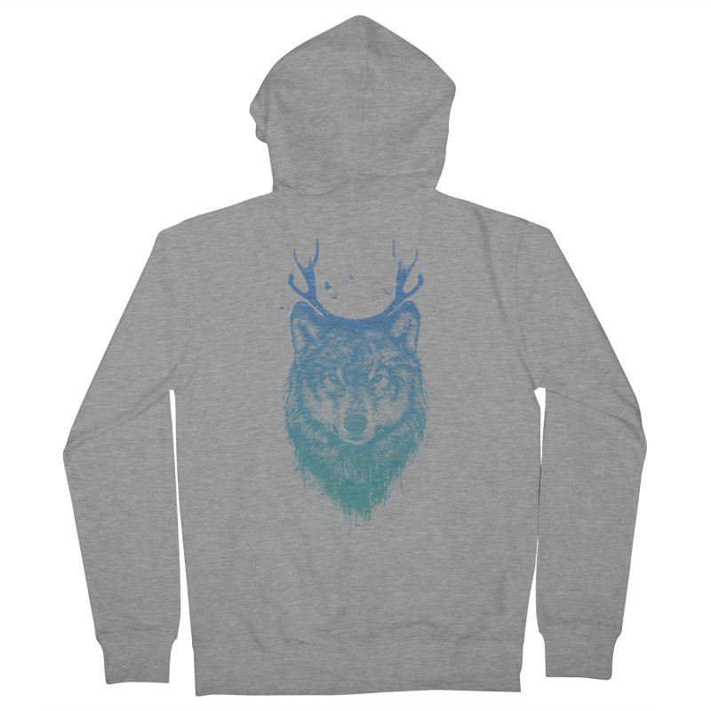 Deer wolf Women's Zip-Up Hoody by Balazs Solti
