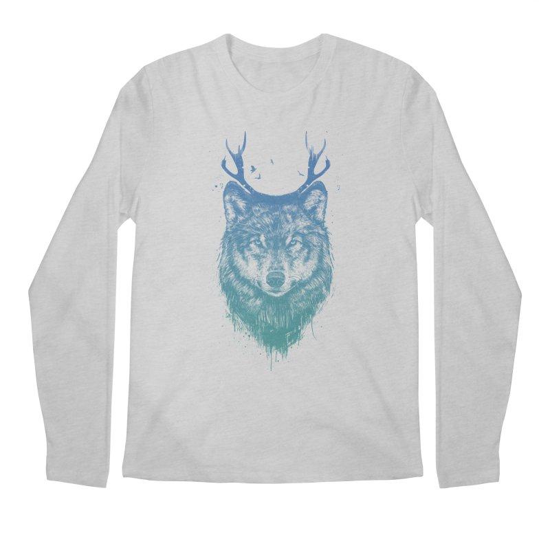 Deer wolf Men's Longsleeve T-Shirt by Balazs Solti