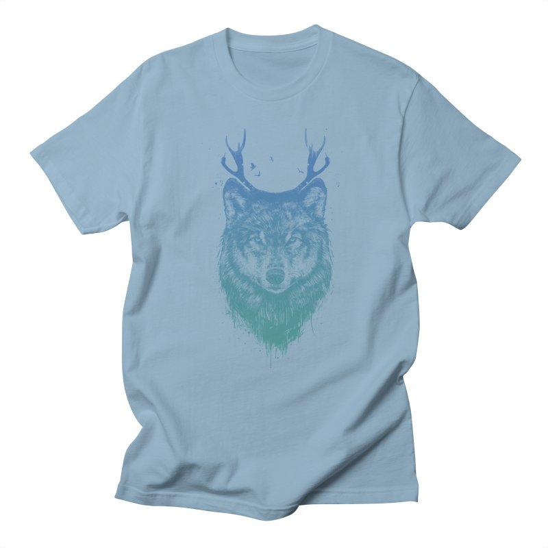 Deer wolf Women's Regular Unisex T-Shirt by Balazs Solti