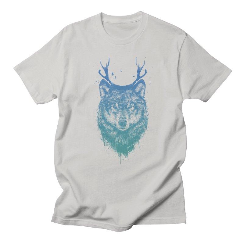 Deer wolf Men's T-Shirt by Balazs Solti