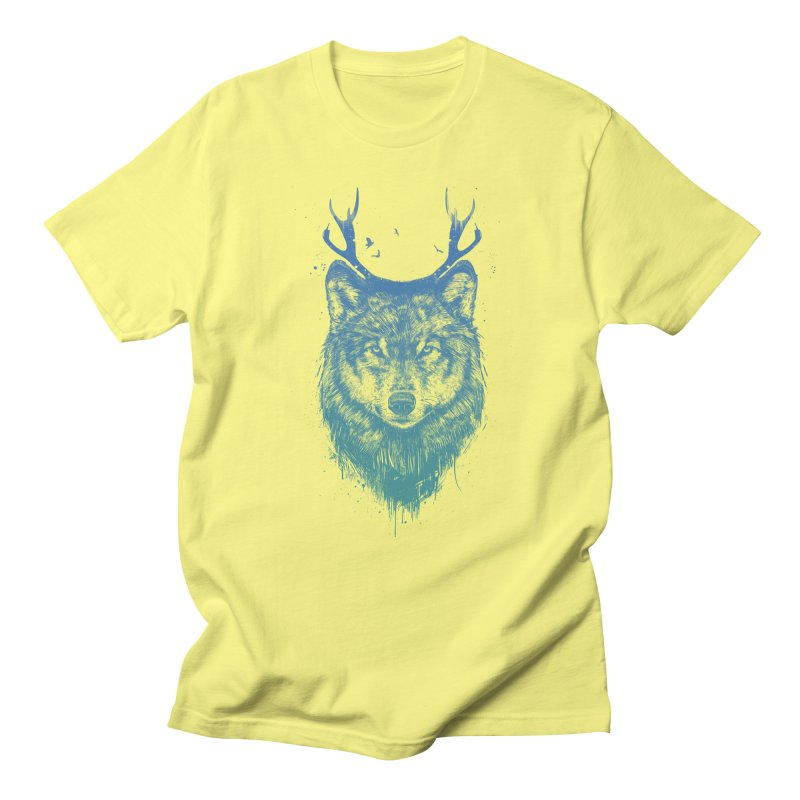 Deer wolf Men's Regular T-Shirt by Balazs Solti