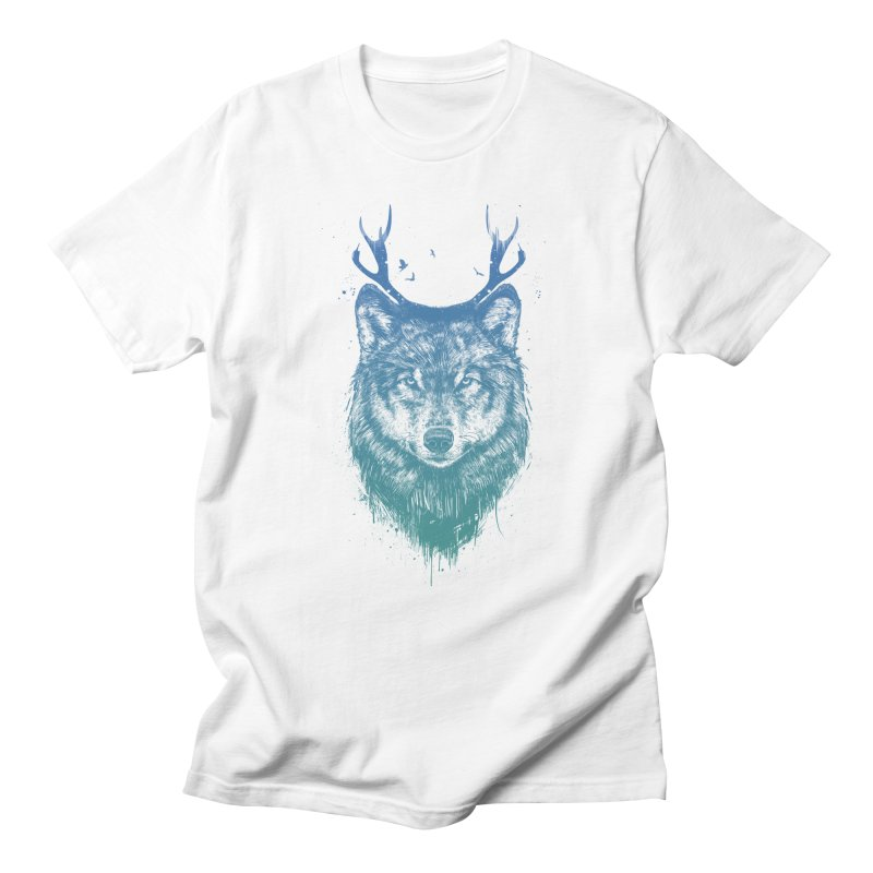 Deer wolf Men's T-Shirt by Balazs Solti