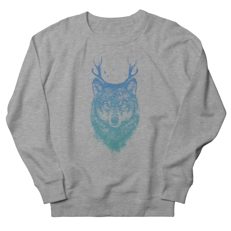 Deer wolf Men's Sweatshirt by Balazs Solti