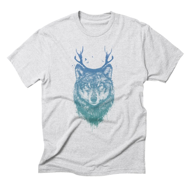 Deer wolf Men's Triblend T-Shirt by Balazs Solti