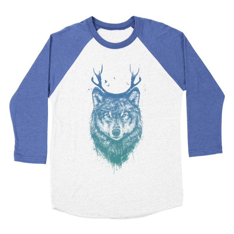 Deer wolf Women's Baseball Triblend T-Shirt by Balazs Solti