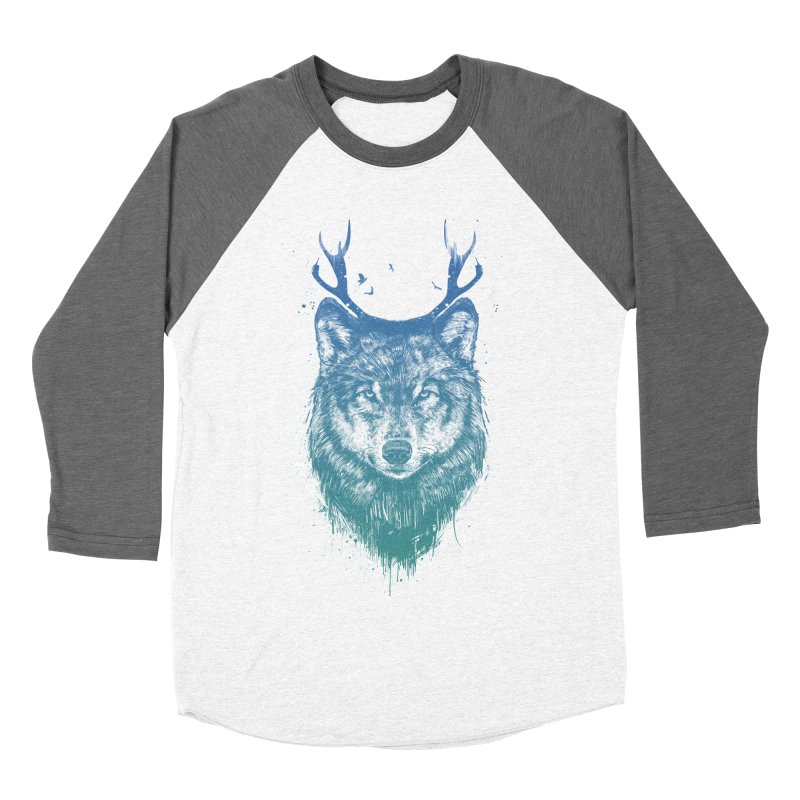 Deer wolf Women's Baseball Triblend T-Shirt by Balazs Solti
