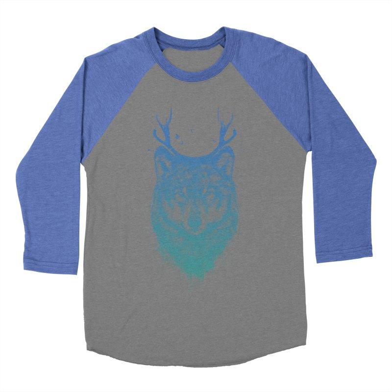 Deer wolf Women's Baseball Triblend Longsleeve T-Shirt by Balazs Solti
