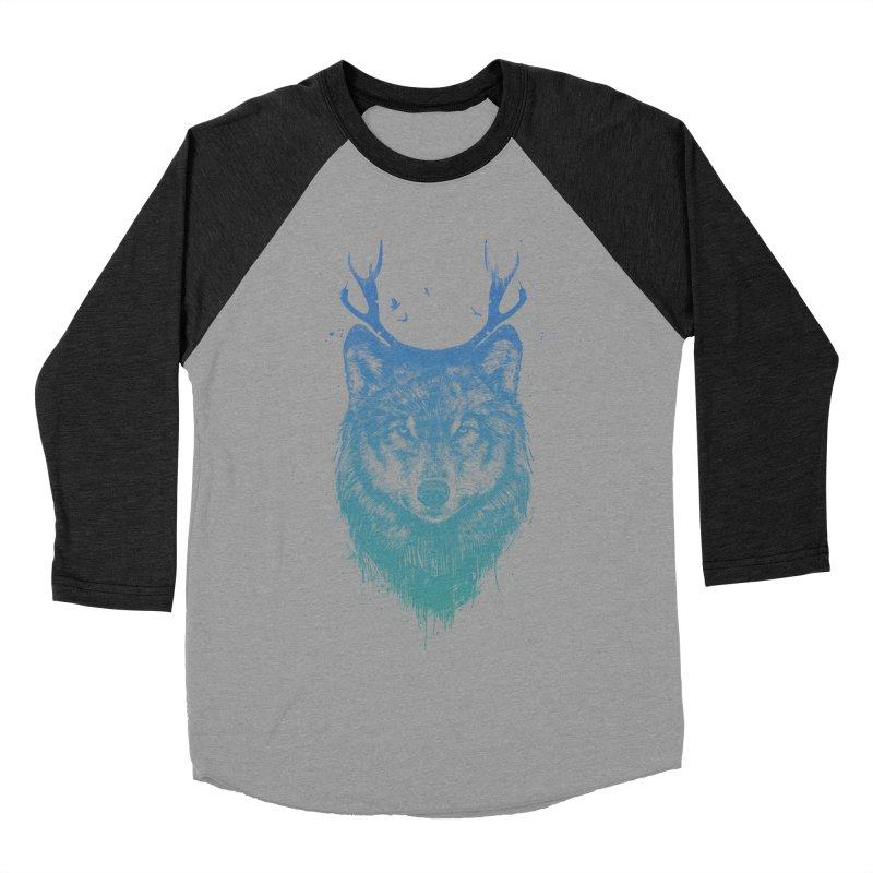 Deer wolf Men's Baseball Triblend Longsleeve T-Shirt by Balazs Solti