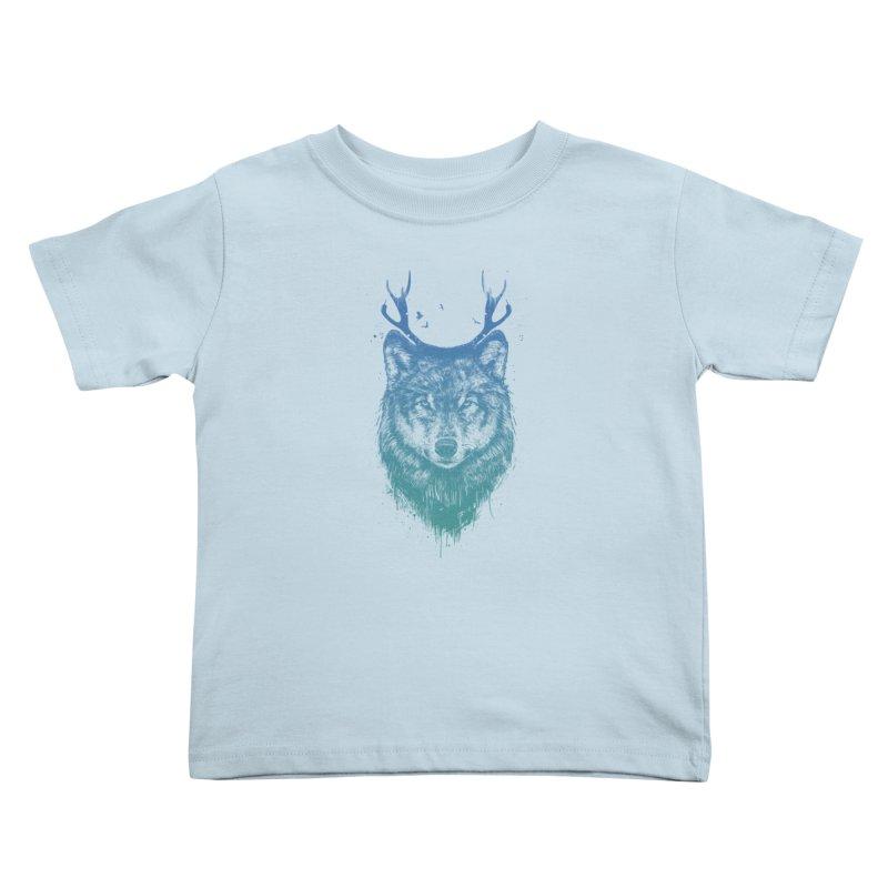 Deer wolf Kids Toddler T-Shirt by Balazs Solti