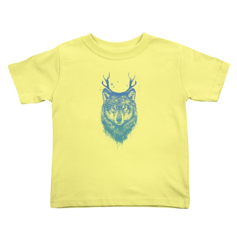 Deer wolf Kids Toddler T-Shirt by Balazs Solti