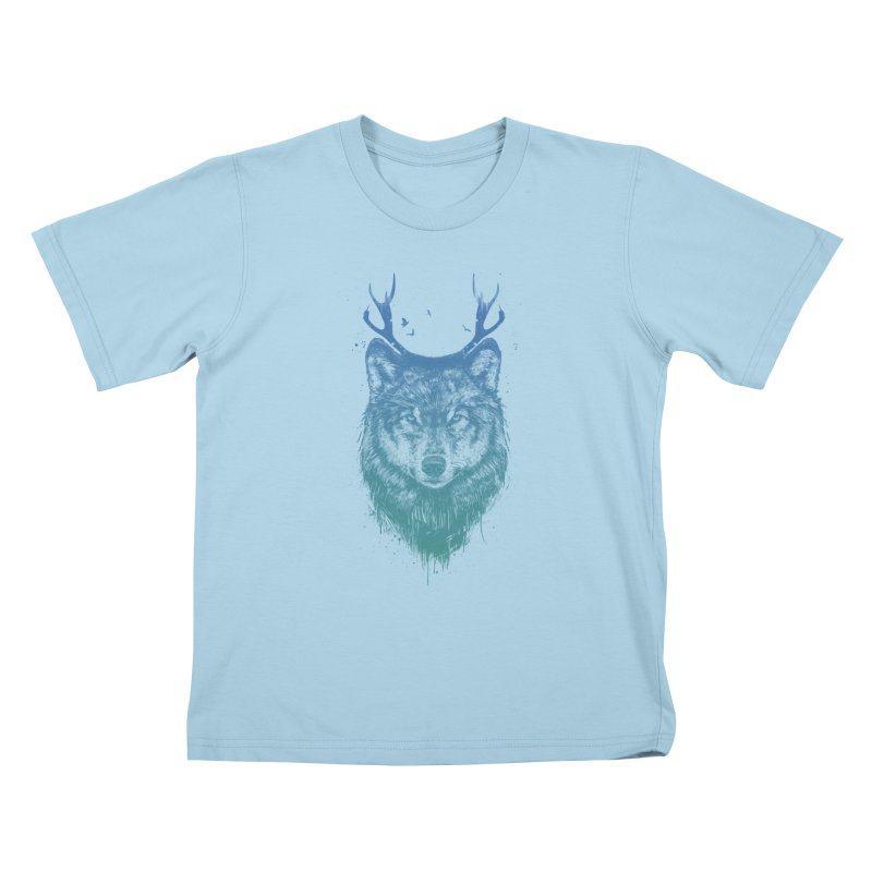 Deer wolf Kids T-Shirt by Balazs Solti