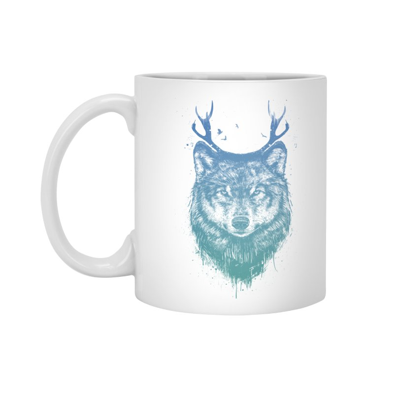 Deer wolf Accessories Mug by Balazs Solti