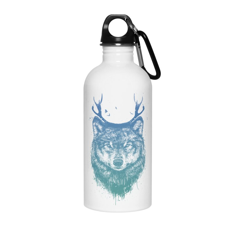 Deer wolf Accessories Water Bottle by Balazs Solti