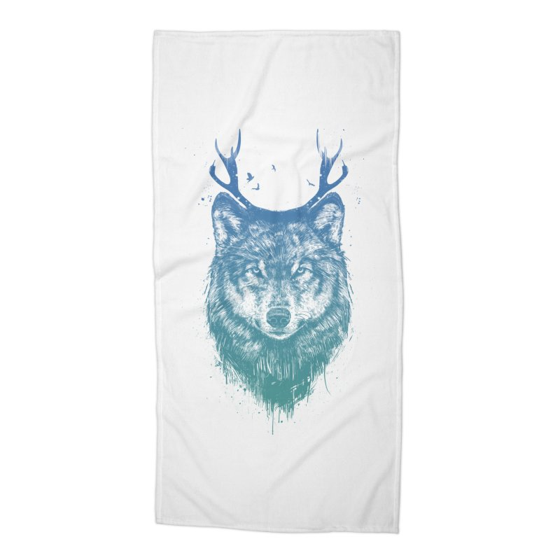 Deer wolf Accessories Beach Towel by Balazs Solti