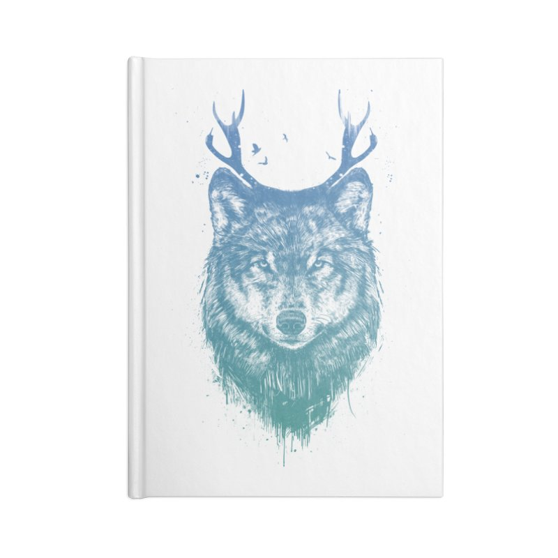 Deer wolf Accessories Blank Journal Notebook by Balazs Solti