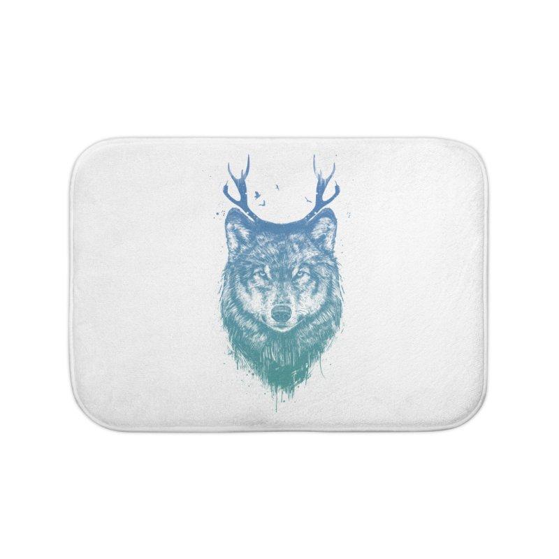 Deer wolf Home Bath Mat by Balazs Solti