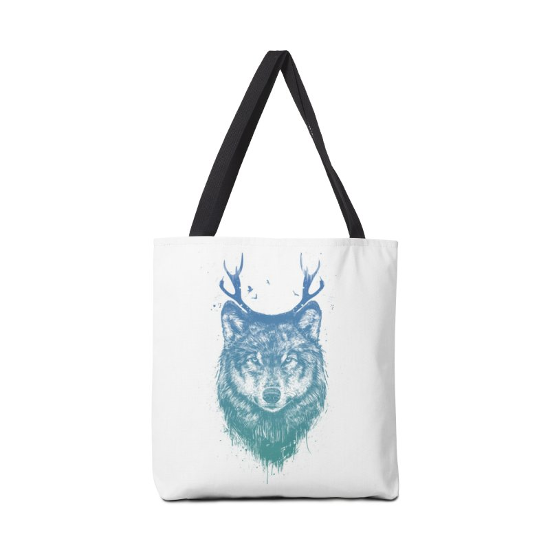 Deer wolf Accessories Tote Bag Bag by Balazs Solti