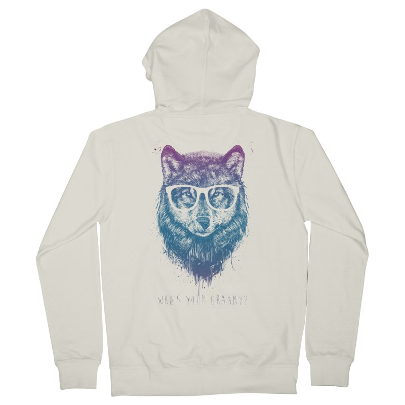 Who's your granny? Women's French Terry Zip-Up Hoody by Balazs Solti