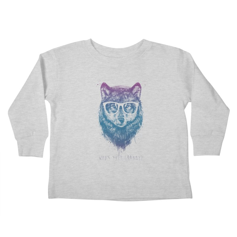 Who's your granny? Kids Toddler Longsleeve T-Shirt by Balazs Solti