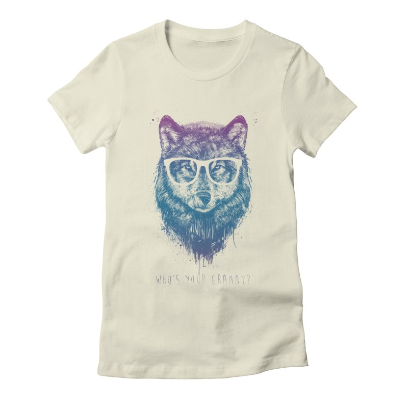 Who's your granny? Women's Fitted T-Shirt by Balazs Solti