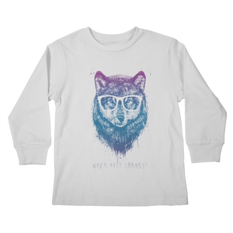 Who's your granny? Kids Longsleeve T-Shirt by Balazs Solti